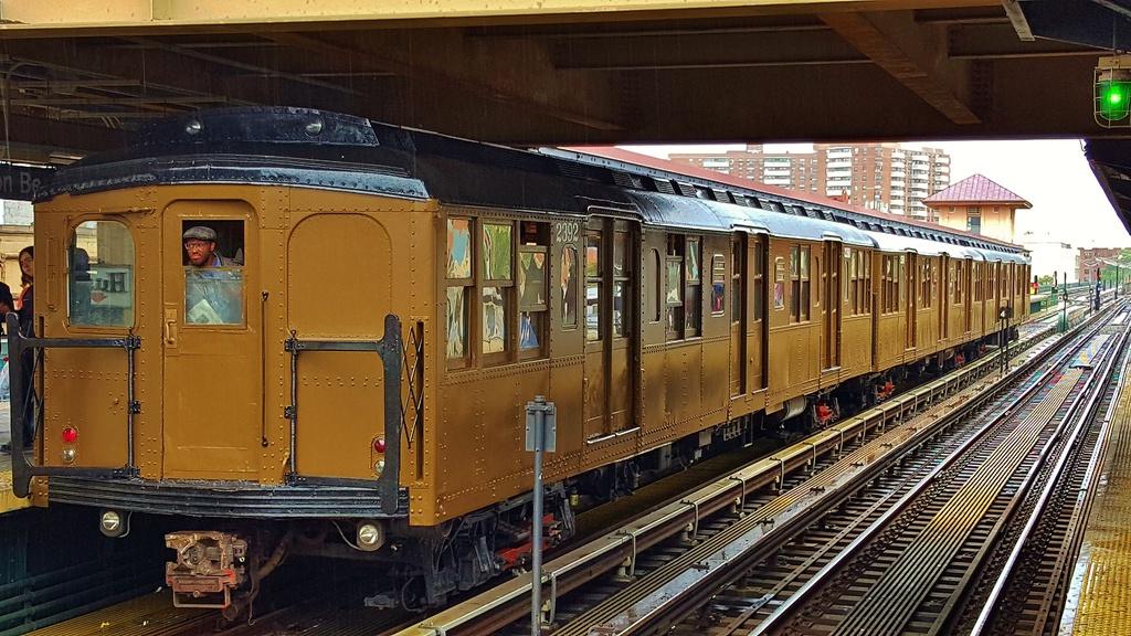 (325k, 1024x576)<br><b>Country:</b> United States<br><b>City:</b> New York<br><b>System:</b> New York City Transit<br><b>Line:</b> BMT Brighton Line<br><b>Location:</b> Brighton Beach<br><b>Route:</b> Museum Train Service<br><b>Car:</b> BMT A/B-Type Standard 2392 <br><b>Photo by:</b> John Dooley<br><b>Date:</b> 6/27/2015<br><b>Viewed (this week/total):</b> 3 / 1302