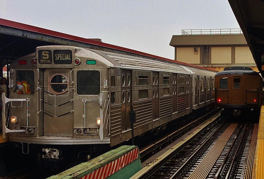 (339k, 1024x695)<br><b>Country:</b> United States<br><b>City:</b> New York<br><b>System:</b> New York City Transit<br><b>Line:</b> BMT Brighton Line<br><b>Location:</b> Brighton Beach<br><b>Route:</b> Museum Train Service<br><b>Car:</b> R-11 (Budd, 1949) 8013 <br><b>Photo by:</b> John Dooley<br><b>Date:</b> 6/27/2015<br><b>Viewed (this week/total):</b> 1 / 1588