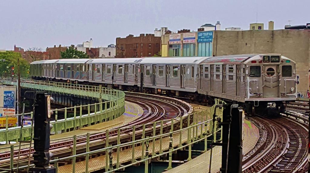 (303k, 1024x574)<br><b>Country:</b> United States<br><b>City:</b> New York<br><b>System:</b> New York City Transit<br><b>Line:</b> BMT Brighton Line<br><b>Location:</b> Brighton Beach<br><b>Route:</b> Museum Train Service<br><b>Car:</b> R-11 (Budd, 1949) 8013 <br><b>Photo by:</b> John Dooley<br><b>Date:</b> 6/27/2015<br><b>Viewed (this week/total):</b> 2 / 1949