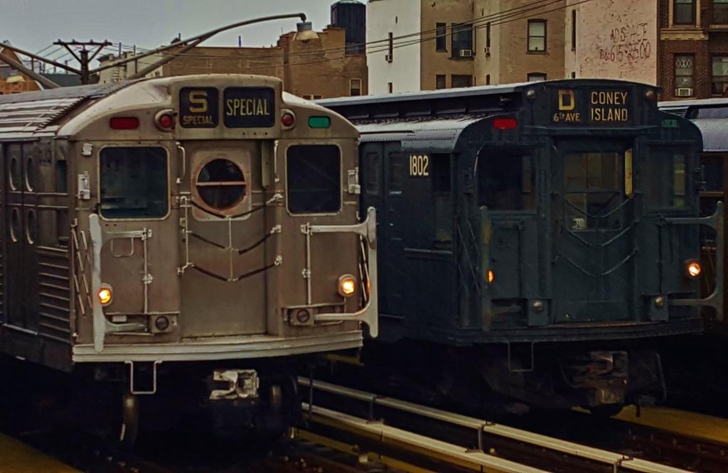(229k, 1024x666)<br><b>Country:</b> United States<br><b>City:</b> New York<br><b>System:</b> New York City Transit<br><b>Line:</b> BMT Brighton Line<br><b>Location:</b> Brighton Beach<br><b>Route:</b> Museum Train Service<br><b>Car:</b> R-11 (Budd, 1949) 8013 <br><b>Photo by:</b> John Dooley<br><b>Date:</b> 6/27/2015<br><b>Viewed (this week/total):</b> 4 / 1764