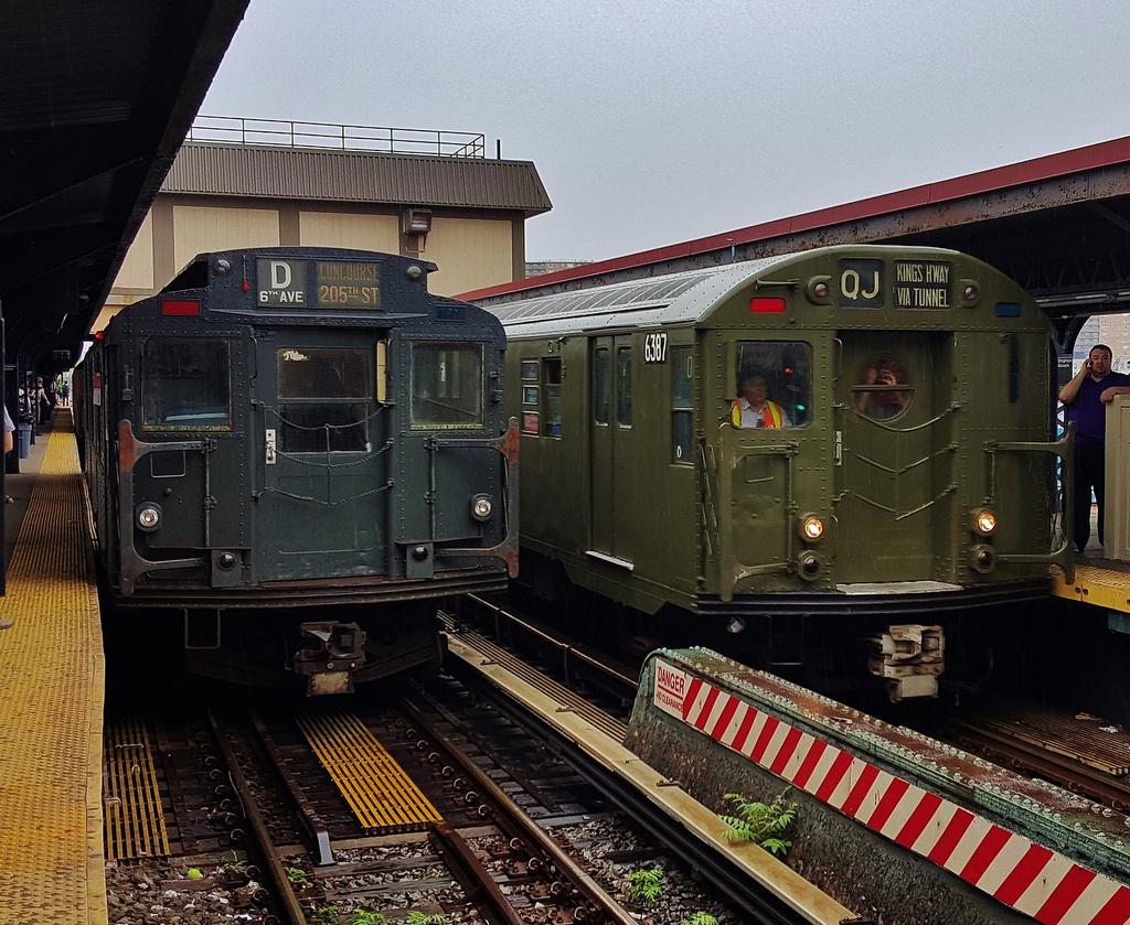 (395k, 1024x839)<br><b>Country:</b> United States<br><b>City:</b> New York<br><b>System:</b> New York City Transit<br><b>Line:</b> BMT Brighton Line<br><b>Location:</b> Brighton Beach<br><b>Route:</b> Museum Train Service<br><b>Car:</b> R-16 (American Car & Foundry, 1955) 6387 <br><b>Photo by:</b> John Dooley<br><b>Date:</b> 6/27/2015<br><b>Viewed (this week/total):</b> 2 / 1686
