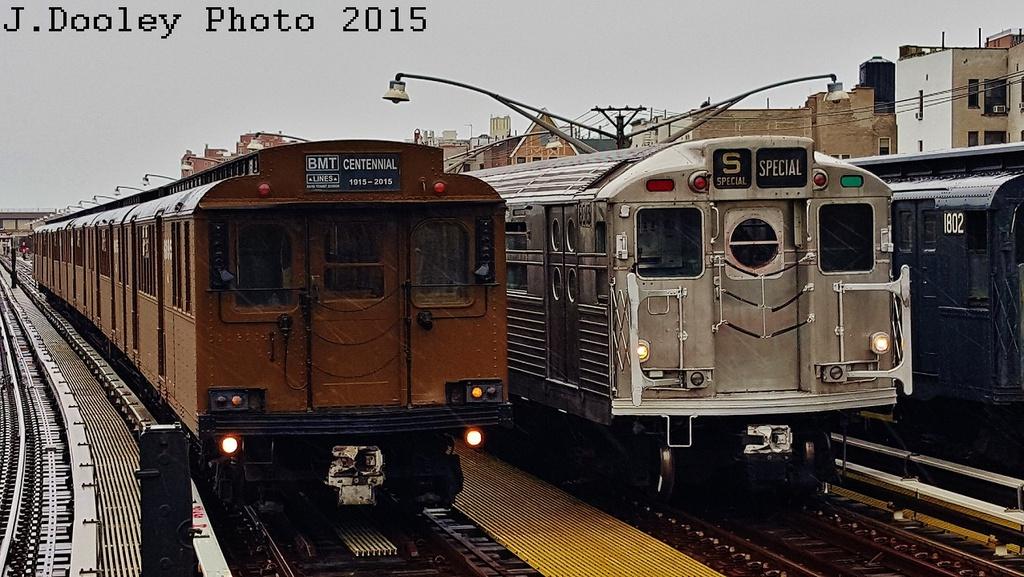 (295k, 1024x577)<br><b>Country:</b> United States<br><b>City:</b> New York<br><b>System:</b> New York City Transit<br><b>Line:</b> BMT Brighton Line<br><b>Location:</b> Brighton Beach<br><b>Route:</b> Museum Train Service<br><b>Car:</b> BMT D-Type Triplex 6095 <br><b>Photo by:</b> John Dooley<br><b>Date:</b> 6/27/2015<br><b>Notes:</b> With R-11 8013<br><b>Viewed (this week/total):</b> 1 / 1404