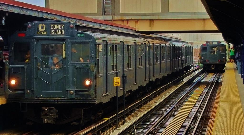 (271k, 1024x569)<br><b>Country:</b> United States<br><b>City:</b> New York<br><b>System:</b> New York City Transit<br><b>Line:</b> BMT Brighton Line<br><b>Location:</b> Brighton Beach<br><b>Route:</b> Museum Train Service<br><b>Car:</b> R-9 (Pressed Steel, 1940) 1802 <br><b>Photo by:</b> John Dooley<br><b>Date:</b> 6/27/2015<br><b>Viewed (this week/total):</b> 1 / 1134