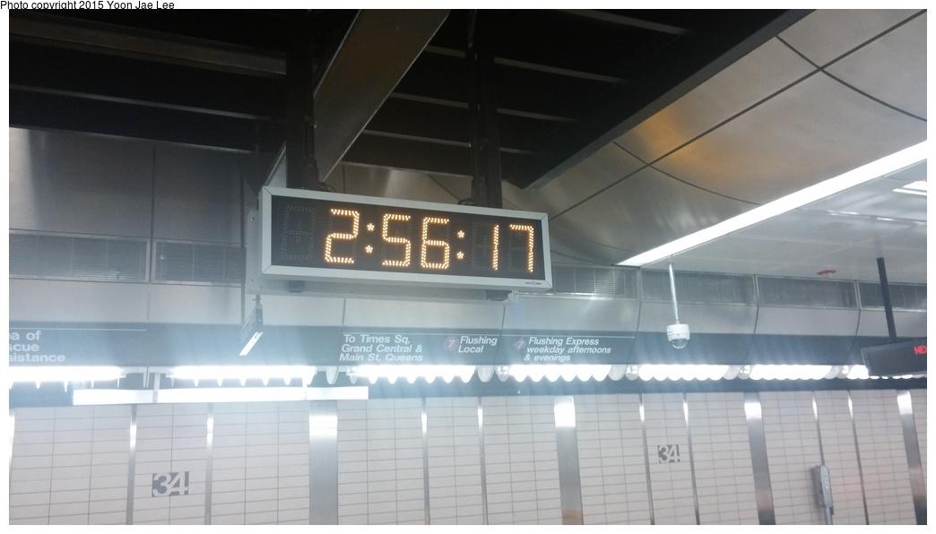 (170k, 1044x596)<br><b>Country:</b> United States<br><b>City:</b> New York<br><b>System:</b> New York City Transit<br><b>Line:</b> IRT Flushing Line<br><b>Location:</b> 34th Street-Hudson Yards<br><b>Photo by:</b> Yoon Jae Lee<br><b>Date:</b> 9/14/2015<br><b>Viewed (this week/total):</b> 0 / 1286