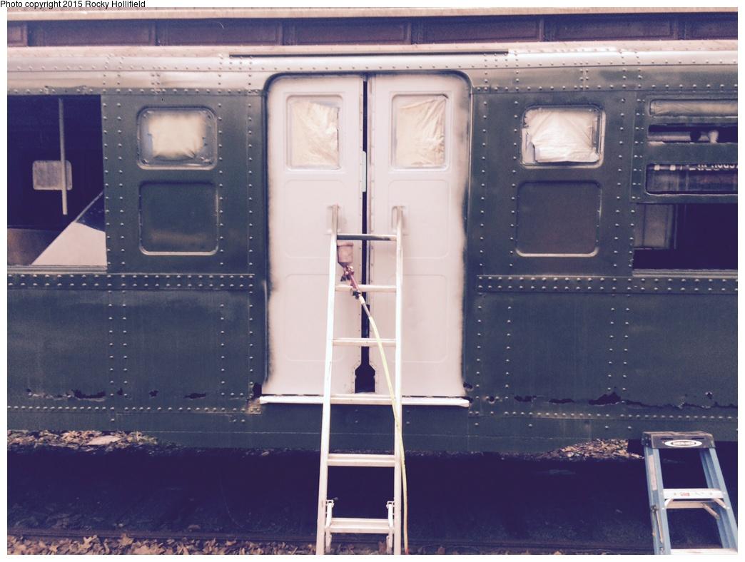 (255k, 1044x788)<br><b>Country:</b> United States<br><b>City:</b> New York<br><b>System:</b> New York City Transit<br><b>Location:</b> Craggy Mountain Line, Asheville NC<br><b>Car:</b> R-6-3 (American Car & Foundry, 1935) 983 <br><b>Photo by:</b> Rocky Hollifield<br><b>Date:</b> 6/22/2015<br><b>Notes:</b> 983 body restoration at the Craggy Mountain Line - Asheville NC craggymountainline.com<br><b>Viewed (this week/total):</b> 0 / 1337