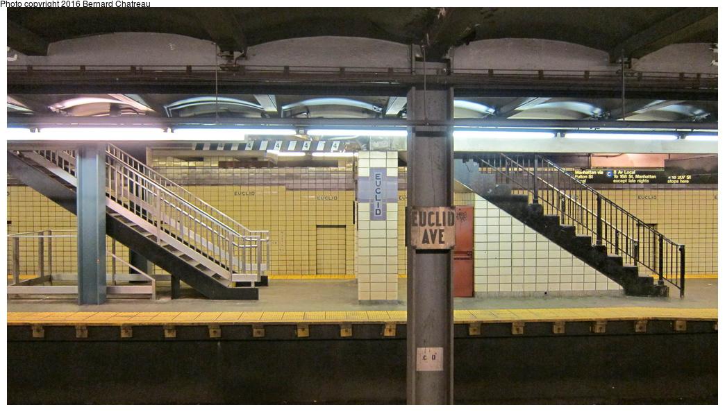 (283k, 1044x594)<br><b>Country:</b> United States<br><b>City:</b> New York<br><b>System:</b> New York City Transit<br><b>Line:</b> IND Fulton Street Line<br><b>Location:</b> Euclid Avenue<br><b>Photo by:</b> Bernard Chatreau<br><b>Date:</b> 9/25/2011<br><b>Viewed (this week/total):</b> 0 / 883