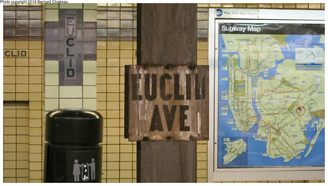 (229k, 1044x594)<br><b>Country:</b> United States<br><b>City:</b> New York<br><b>System:</b> New York City Transit<br><b>Line:</b> IND Fulton Street Line<br><b>Location:</b> Euclid Avenue<br><b>Photo by:</b> Bernard Chatreau<br><b>Date:</b> 9/25/2011<br><b>Viewed (this week/total):</b> 3 / 771