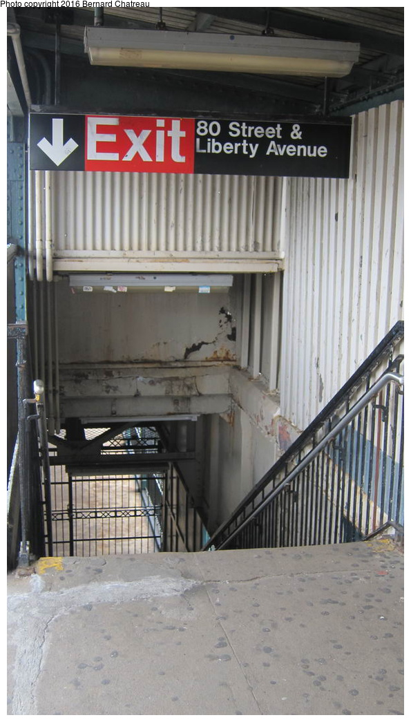 (223k, 595x1045)<br><b>Country:</b> United States<br><b>City:</b> New York<br><b>System:</b> New York City Transit<br><b>Line:</b> IND Fulton Street Line<br><b>Location:</b> 80th Street-Hudson Street<br><b>Photo by:</b> Bernard Chatreau<br><b>Date:</b> 9/25/2011<br><b>Viewed (this week/total):</b> 0 / 770
