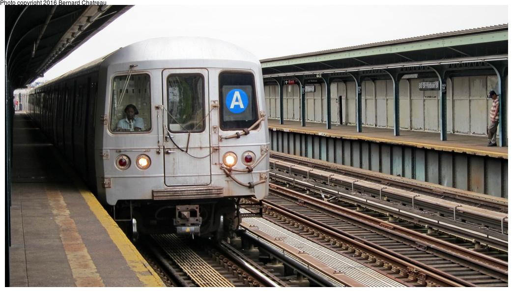 (267k, 1044x594)<br><b>Country:</b> United States<br><b>City:</b> New York<br><b>System:</b> New York City Transit<br><b>Line:</b> IND Fulton Street Line<br><b>Location:</b> 80th Street-Hudson Street<br><b>Route:</b> A<br><b>Car:</b> R-46 (Pullman-Standard, 1974-75) 6134 <br><b>Photo by:</b> Bernard Chatreau<br><b>Date:</b> 9/25/2011<br><b>Viewed (this week/total):</b> 0 / 876