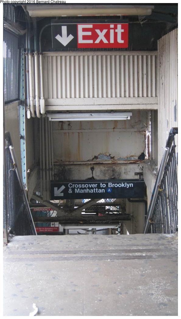(220k, 595x1045)<br><b>Country:</b> United States<br><b>City:</b> New York<br><b>System:</b> New York City Transit<br><b>Line:</b> IND Fulton Street Line<br><b>Location:</b> Rockaway Boulevard<br><b>Photo by:</b> Bernard Chatreau<br><b>Date:</b> 9/25/2011<br><b>Viewed (this week/total):</b> 0 / 664