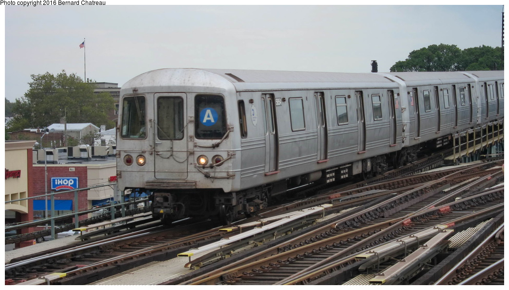 (249k, 1044x595)<br><b>Country:</b> United States<br><b>City:</b> New York<br><b>System:</b> New York City Transit<br><b>Line:</b> IND Fulton Street Line<br><b>Location:</b> Rockaway Boulevard<br><b>Route:</b> A<br><b>Car:</b> R-46 (Pullman-Standard, 1974-75) 5854 <br><b>Photo by:</b> Bernard Chatreau<br><b>Date:</b> 9/25/2011<br><b>Viewed (this week/total):</b> 0 / 978