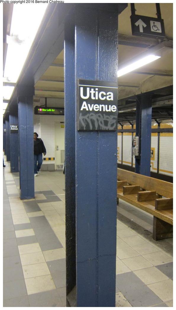 (191k, 595x1045)<br><b>Country:</b> United States<br><b>City:</b> New York<br><b>System:</b> New York City Transit<br><b>Line:</b> IRT Brooklyn Line<br><b>Location:</b> Utica Avenue<br><b>Photo by:</b> Bernard Chatreau<br><b>Date:</b> 10/5/2011<br><b>Viewed (this week/total):</b> 0 / 1164