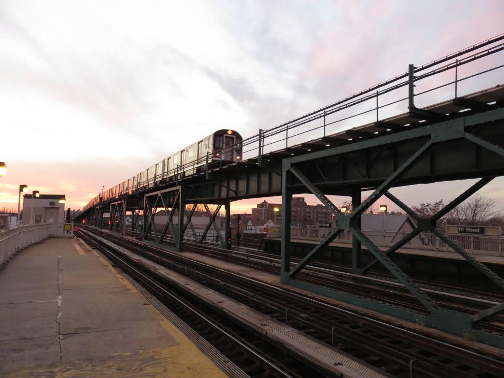 (107k, 1024x768)<br><b>Country:</b> United States<br><b>City:</b> New York<br><b>System:</b> New York City Transit<br><b>Line:</b> IRT Flushing Line<br><b>Location:</b> 111th Street<br><b>Photo by:</b> Robbie Rosenfeld<br><b>Date:</b> 12/8/2015<br><b>Notes:</b> Express train.<br><b>Viewed (this week/total):</b> 0 / 1209