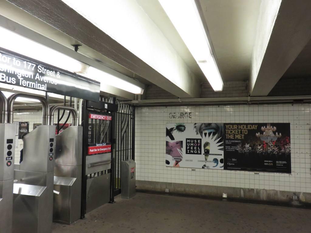 (100k, 1024x768)<br><b>Country:</b> United States<br><b>City:</b> New York<br><b>System:</b> New York City Transit<br><b>Line:</b> IND 8th Avenue Line<br><b>Location:</b> 175th Street/George Washington Bridge Bus Terminal<br><b>Photo by:</b> Robbie Rosenfeld<br><b>Date:</b> 12/9/2015<br><b>Notes:</b> Mezzanine.<br><b>Viewed (this week/total):</b> 0 / 1282