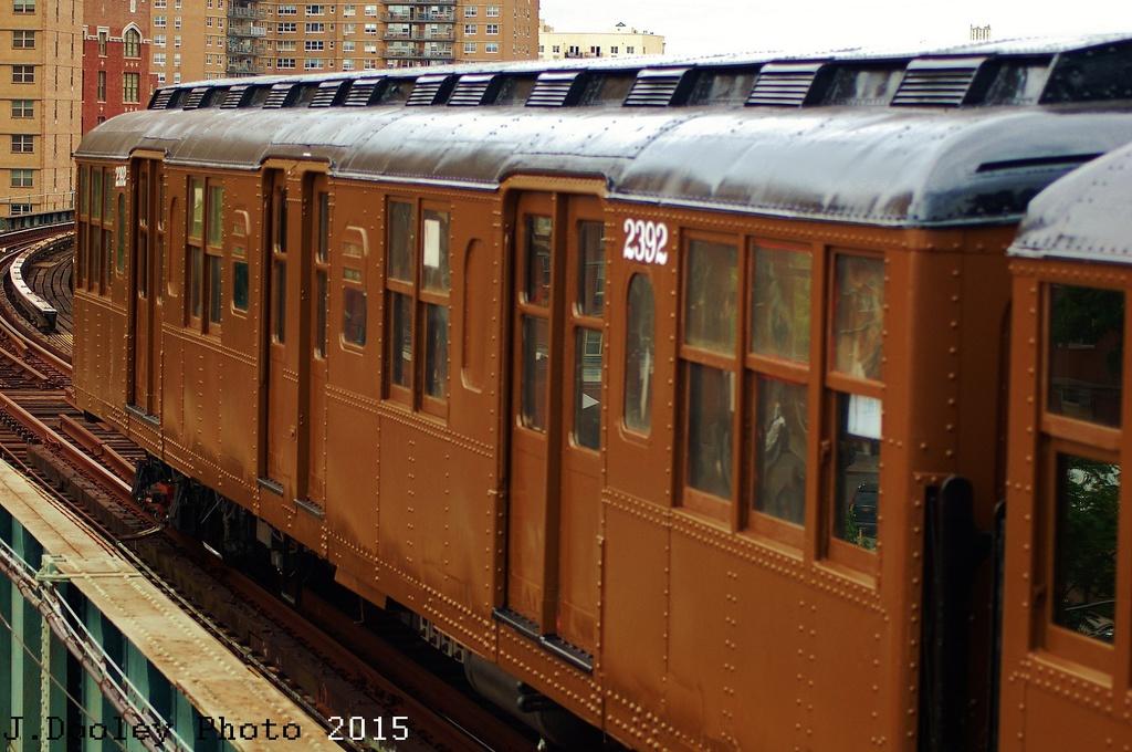 (323k, 1024x680)<br><b>Country:</b> United States<br><b>City:</b> New York<br><b>System:</b> New York City Transit<br><b>Line:</b> BMT Brighton Line<br><b>Location:</b> West 8th Street<br><b>Route:</b> Fan Trip<br><b>Car:</b> BMT A/B-Type Standard 2392 <br><b>Photo by:</b> John Dooley<br><b>Date:</b> 6/28/2015<br><b>Viewed (this week/total):</b> 0 / 1042
