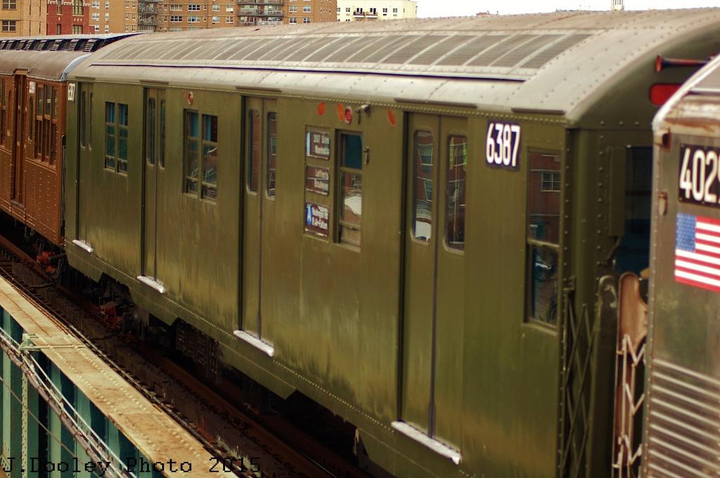 (292k, 1024x680)<br><b>Country:</b> United States<br><b>City:</b> New York<br><b>System:</b> New York City Transit<br><b>Line:</b> BMT Brighton Line<br><b>Location:</b> West 8th Street<br><b>Route:</b> Fan Trip<br><b>Car:</b> R-16 (American Car & Foundry, 1955) 6387 <br><b>Photo by:</b> John Dooley<br><b>Date:</b> 6/28/2015<br><b>Viewed (this week/total):</b> 0 / 1162