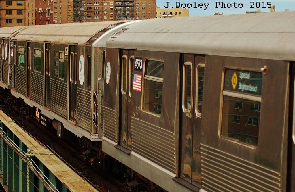 (329k, 1024x668)<br><b>Country:</b> United States<br><b>City:</b> New York<br><b>System:</b> New York City Transit<br><b>Line:</b> BMT Brighton Line<br><b>Location:</b> West 8th Street<br><b>Route:</b> Fan Trip<br><b>Car:</b> R-42 (St. Louis, 1969-1970) 4573 <br><b>Photo by:</b> John Dooley<br><b>Date:</b> 6/28/2015<br><b>Viewed (this week/total):</b> 0 / 1221