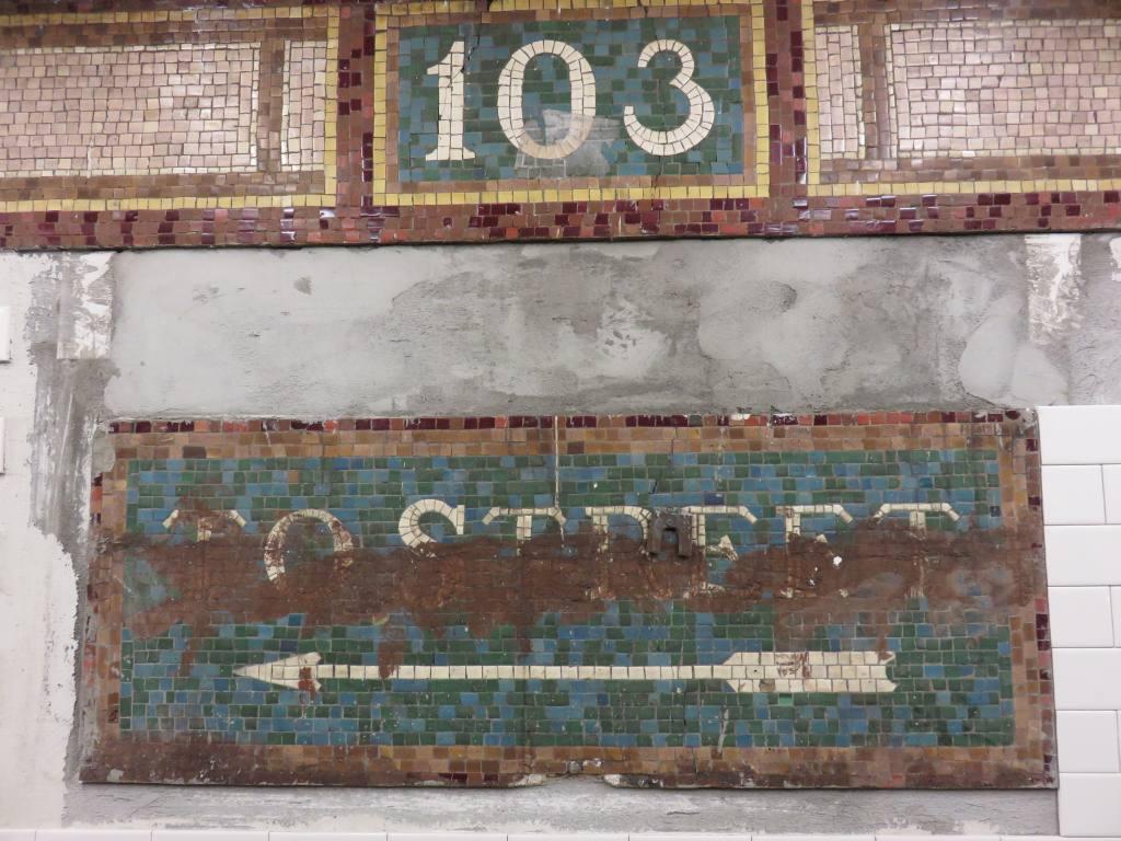 (145k, 1024x768)<br><b>Country:</b> United States<br><b>City:</b> New York<br><b>System:</b> New York City Transit<br><b>Line:</b> IRT East Side Line<br><b>Location:</b> 103rd Street<br><b>Photo by:</b> Robbie Rosenfeld<br><b>Date:</b> 10/11/2015<br><b>Notes:</b> Mosaic tablet.<br><b>Viewed (this week/total):</b> 1 / 1170