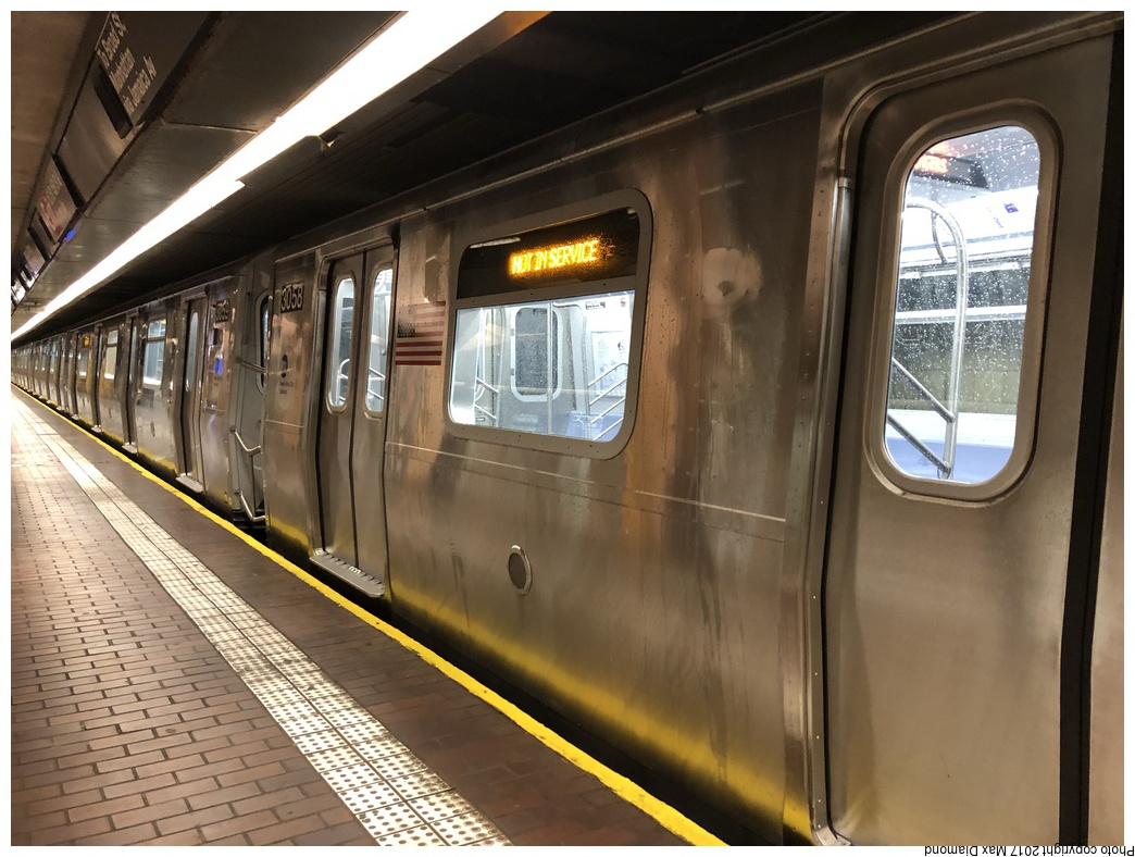 (281k, 1044x788)<br><b>Country:</b> United States<br><b>City:</b> New York<br><b>System:</b> New York City Transit<br><b>Line:</b> BMT Nassau Street-Jamaica Line<br><b>Location:</b> Jamaica Center/Parsons-Archer<br><b>Route:</b> J<br><b>Car:</b> R-179 (Bombardier, 2016-2019) 3058 <br><b>Photo by:</b> Max Diamond<br><b>Date:</b> 11/19/2017<br><b>Notes:</b> First day of service; 30 day in-service testing.<br><b>Viewed (this week/total):</b> 7 / 2083