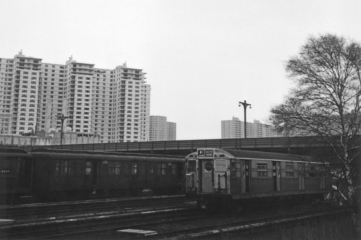 (283k, 1200x800)<br><b>Country:</b> United States<br><b>City:</b> New York<br><b>System:</b> New York City Transit<br><b>Location:</b> Coney Island Yard<br><b>Car:</b> BMT A/B-Type Standard 2298 <br><b>Collection of:</b> David Pirmann<br><b>Date:</b> 4/19/1964<br><b>Notes:</b> With R-11 8016<br><b>Viewed (this week/total):</b> 0 / 1101