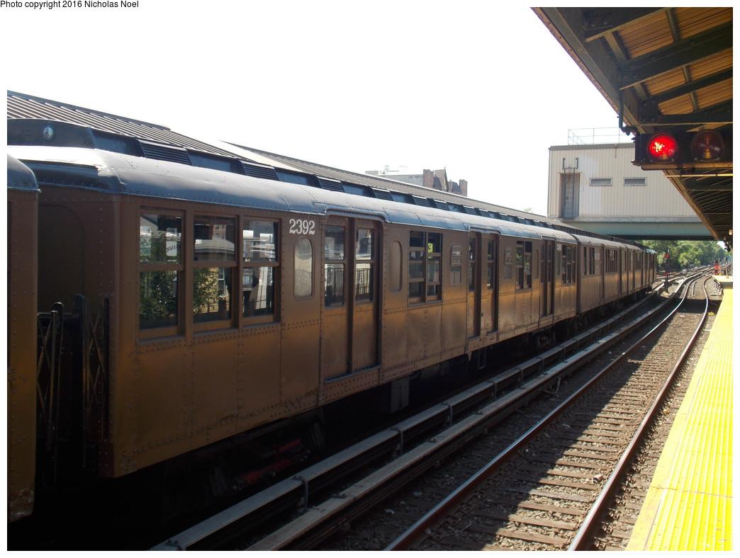 (331k, 1044x788)<br><b>Country:</b> United States<br><b>City:</b> New York<br><b>System:</b> New York City Transit<br><b>Line:</b> BMT Brighton Line<br><b>Location:</b> Kings Highway<br><b>Route:</b> Museum Train Service<br><b>Car:</b> BMT A/B-Type Standard 2392 <br><b>Photo by:</b> Nicholas Noel<br><b>Date:</b> 6/25/2016<br><b>Notes:</b> New York Transit Museum 40th Anniv. parade of trains.<br><b>Viewed (this week/total):</b> 2 / 1018
