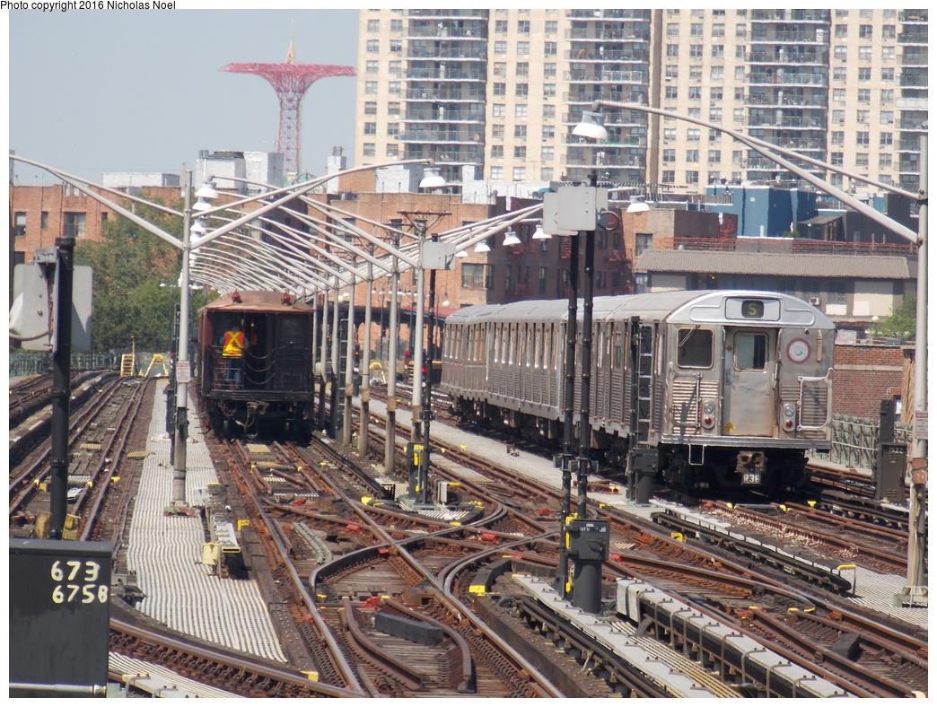 (510k, 1044x788)<br><b>Country:</b> United States<br><b>City:</b> New York<br><b>System:</b> New York City Transit<br><b>Line:</b> BMT Brighton Line<br><b>Location:</b> Brighton Beach<br><b>Route:</b> Museum Train Service<br><b>Photo by:</b> Nicholas Noel<br><b>Date:</b> 6/25/2016<br><b>Notes:</b> Gate car and R-38 museum trains. New York Transit Museum 40th Anniv. parade of trains.<br><b>Viewed (this week/total):</b> 2 / 538