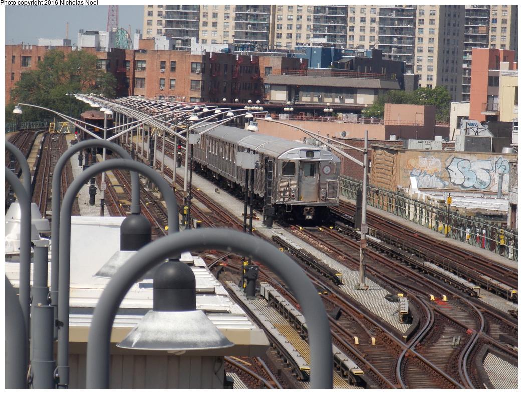 (478k, 1044x788)<br><b>Country:</b> United States<br><b>City:</b> New York<br><b>System:</b> New York City Transit<br><b>Line:</b> BMT Brighton Line<br><b>Location:</b> Brighton Beach<br><b>Route:</b> Museum Train Service<br><b>Car:</b> R-38 (St. Louis, 1966-1967) 4028 <br><b>Photo by:</b> Nicholas Noel<br><b>Date:</b> 6/25/2016<br><b>Notes:</b> New York Transit Museum 40th Anniv. parade of trains.<br><b>Viewed (this week/total):</b> 6 / 1602