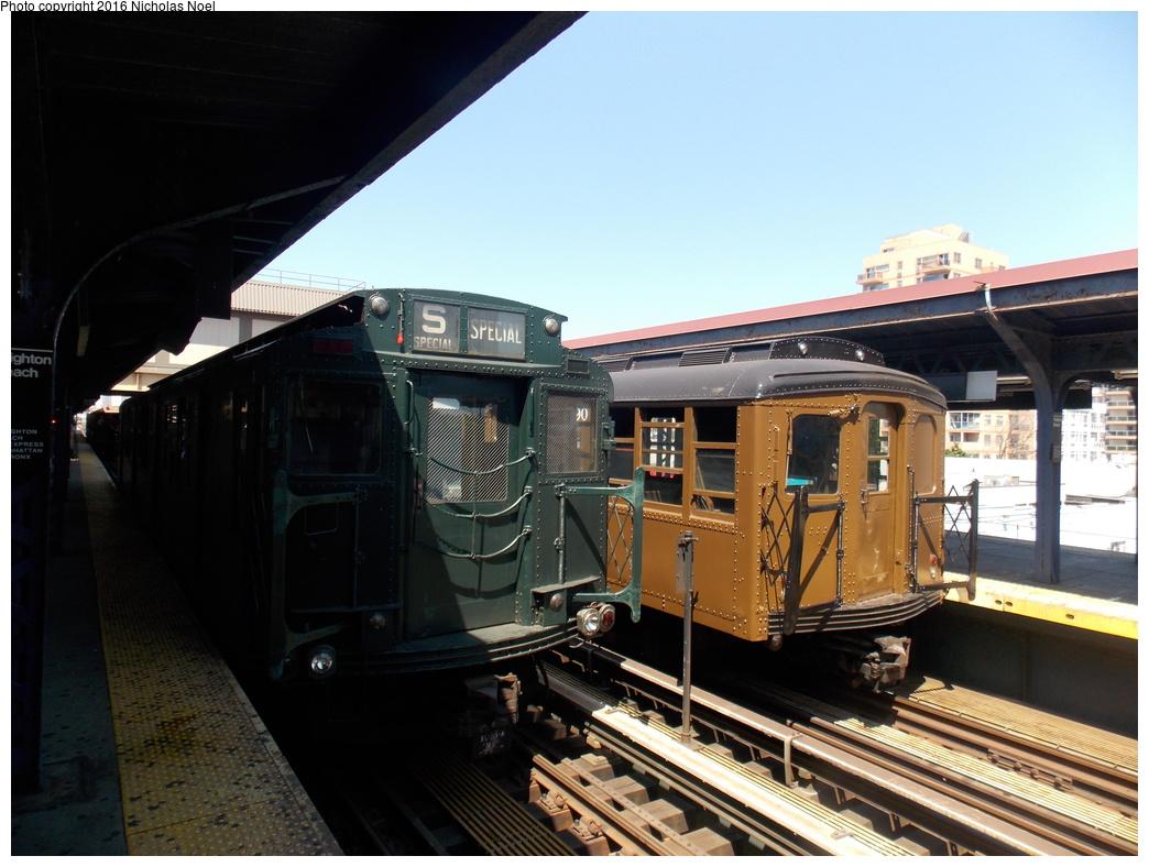 (347k, 1044x788)<br><b>Country:</b> United States<br><b>City:</b> New York<br><b>System:</b> New York City Transit<br><b>Line:</b> BMT Brighton Line<br><b>Location:</b> Brighton Beach<br><b>Route:</b> Museum Train Service<br><b>Car:</b> BMT A/B-Type Standard 2390 <br><b>Photo by:</b> Nicholas Noel<br><b>Date:</b> 6/25/2016<br><b>Notes:</b> New York Transit Museum 40th Anniv. parade of trains.<br><b>Viewed (this week/total):</b> 4 / 963