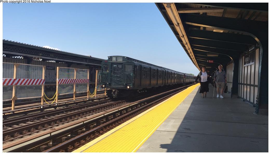(234k, 1044x597)<br><b>Country:</b> United States<br><b>City:</b> New York<br><b>System:</b> New York City Transit<br><b>Line:</b> BMT Culver Line<br><b>Location:</b> Avenue X<br><b>Route:</b> Museum Train Service<br><b>Car:</b> R-4 (American Car & Foundry, 1932-1933) 401 <br><b>Photo by:</b> Nicholas Noel<br><b>Date:</b> 6/25/2016<br><b>Notes:</b> New York Transit Museum 40th Anniv. parade of trains.<br><b>Viewed (this week/total):</b> 2 / 1096