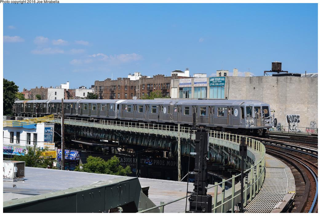 (385k, 1044x703)<br><b>Country:</b> United States<br><b>City:</b> New York<br><b>System:</b> New York City Transit<br><b>Line:</b> BMT Brighton Line<br><b>Location:</b> Brighton Beach<br><b>Route:</b> Museum Train Service<br><b>Car:</b> R-40 (St. Louis, 1968) 4280 <br><b>Photo by:</b> Joe Mirabella<br><b>Date:</b> 6/26/2016<br><b>Notes:</b> NY Transit Museum 40th anniversary parade of trains.<br><b>Viewed (this week/total):</b> 0 / 1726