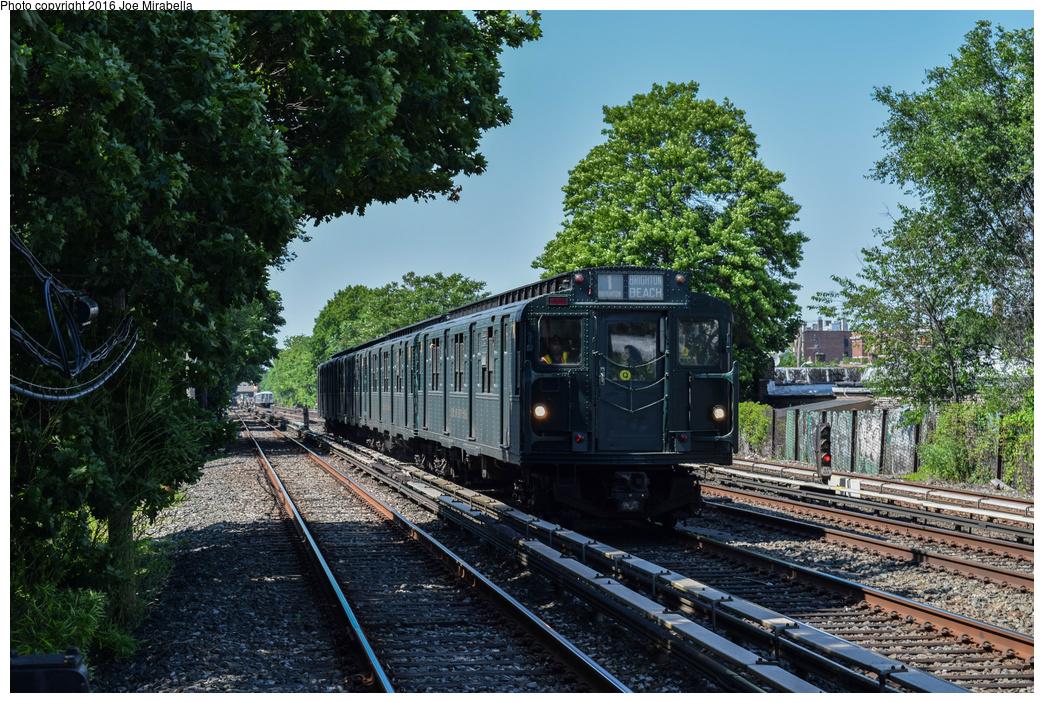 (528k, 1044x703)<br><b>Country:</b> United States<br><b>City:</b> New York<br><b>System:</b> New York City Transit<br><b>Line:</b> BMT Brighton Line<br><b>Location:</b> Avenue U<br><b>Route:</b> Museum Train Service<br><b>Car:</b> R-1 (American Car & Foundry, 1930-1931) 381 <br><b>Photo by:</b> Joe Mirabella<br><b>Date:</b> 6/26/2016<br><b>Notes:</b> NY Transit Museum 40th anniversary parade of trains.<br><b>Viewed (this week/total):</b> 0 / 1350