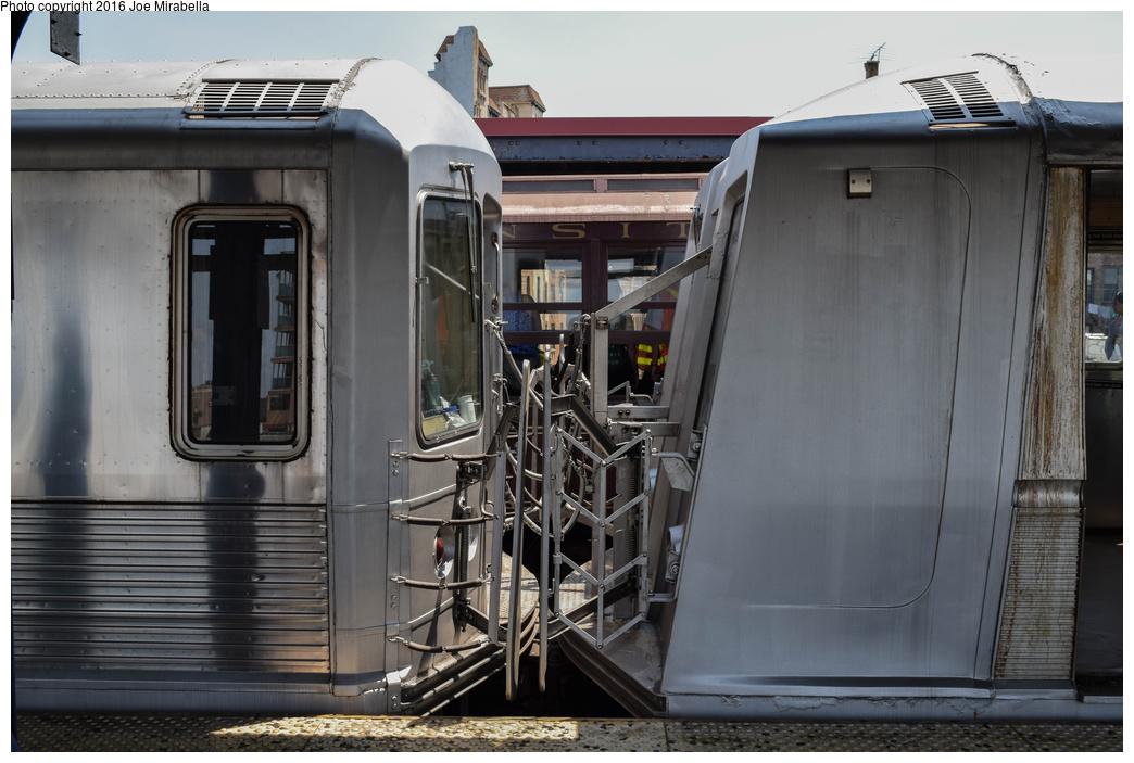 (306k, 1044x703)<br><b>Country:</b> United States<br><b>City:</b> New York<br><b>System:</b> New York City Transit<br><b>Line:</b> BMT Brighton Line<br><b>Location:</b> Brighton Beach<br><b>Route:</b> Museum Train Service<br><b>Car:</b> R-40 (St. Louis, 1968) 4281 <br><b>Photo by:</b> Joe Mirabella<br><b>Date:</b> 6/26/2016<br><b>Notes:</b> With R-42 4572<br><b>Viewed (this week/total):</b> 0 / 1944