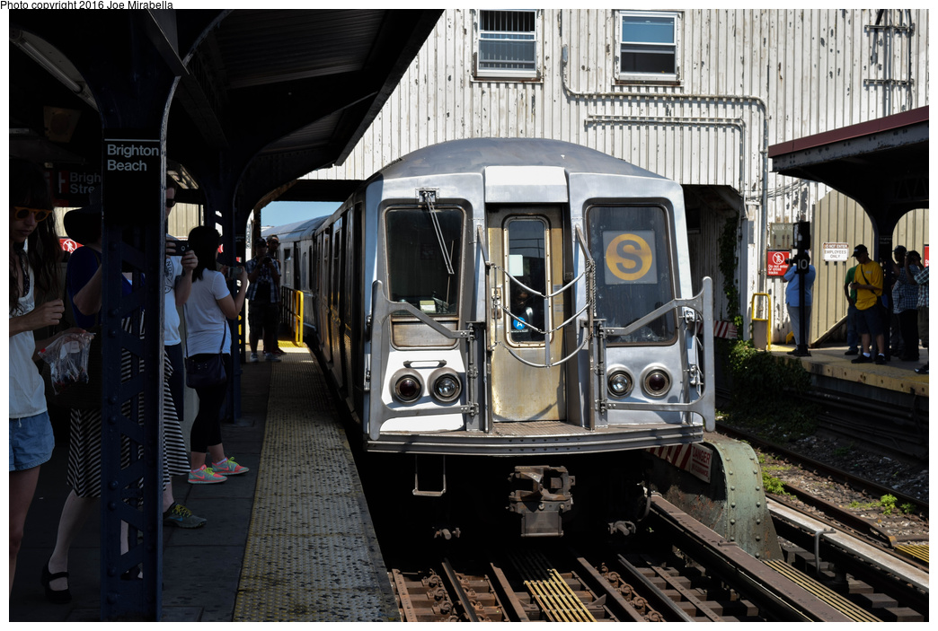 (382k, 1044x703)<br><b>Country:</b> United States<br><b>City:</b> New York<br><b>System:</b> New York City Transit<br><b>Line:</b> BMT Brighton Line<br><b>Location:</b> Brighton Beach<br><b>Route:</b> Museum Train Service<br><b>Car:</b> R-40 (St. Louis, 1968) 4280 <br><b>Photo by:</b> Joe Mirabella<br><b>Date:</b> 6/26/2016<br><b>Notes:</b> NY Transit Museum 40th anniversary parade of trains.<br><b>Viewed (this week/total):</b> 0 / 1648