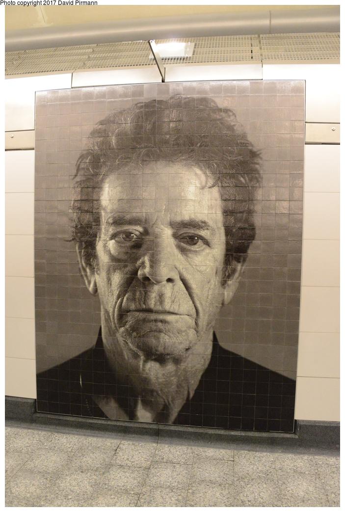 (287k, 703x1043)<br><b>Country:</b> United States<br><b>City:</b> New York<br><b>System:</b> New York City Transit<br><b>Line:</b> 2nd Avenue Subway<br><b>Location:</b> 86th Street<br><b>Photo by:</b> David Pirmann<br><b>Date:</b> 1/1/2017<br><b>Artwork:</b> <i>Subway Portraits</i>, Chuck Close, 2016<br><b>Viewed (this week/total):</b> 2 / 1234