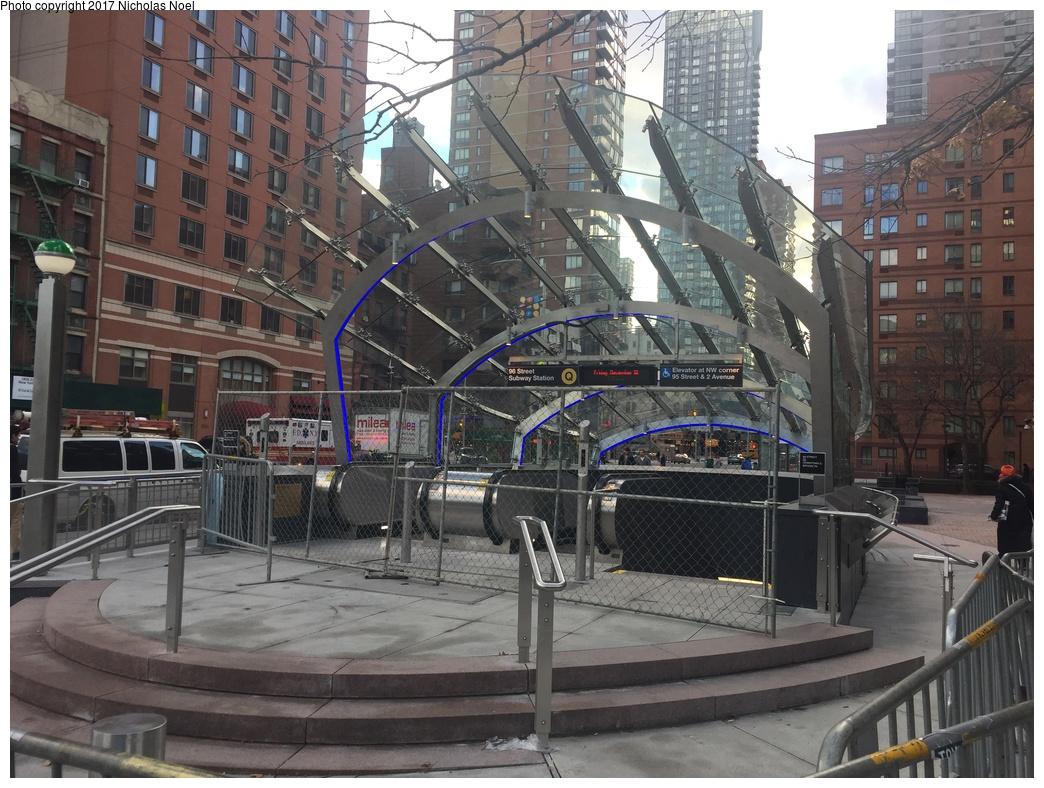 (354k, 1044x788)<br><b>Country:</b> United States<br><b>City:</b> New York<br><b>System:</b> New York City Transit<br><b>Line:</b> 2nd Avenue Subway<br><b>Location:</b> 96th Street<br><b>Photo by:</b> Nicholas Noel<br><b>Date:</b> 12/30/2016<br><b>Notes:</b> Finishing touches two days before opening.<br><b>Viewed (this week/total):</b> 3 / 1102