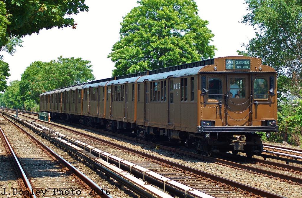 (495k, 1024x673)<br><b>Country:</b> United States<br><b>City:</b> New York<br><b>System:</b> New York City Transit<br><b>Line:</b> BMT Brighton Line<br><b>Location:</b> Neck Road<br><b>Route:</b> Museum Train Service<br><b>Car:</b> BMT D-Type Triplex 6112 <br><b>Photo by:</b> John Dooley<br><b>Date:</b> 6/26/2016<br><b>Viewed (this week/total):</b> 2 / 925