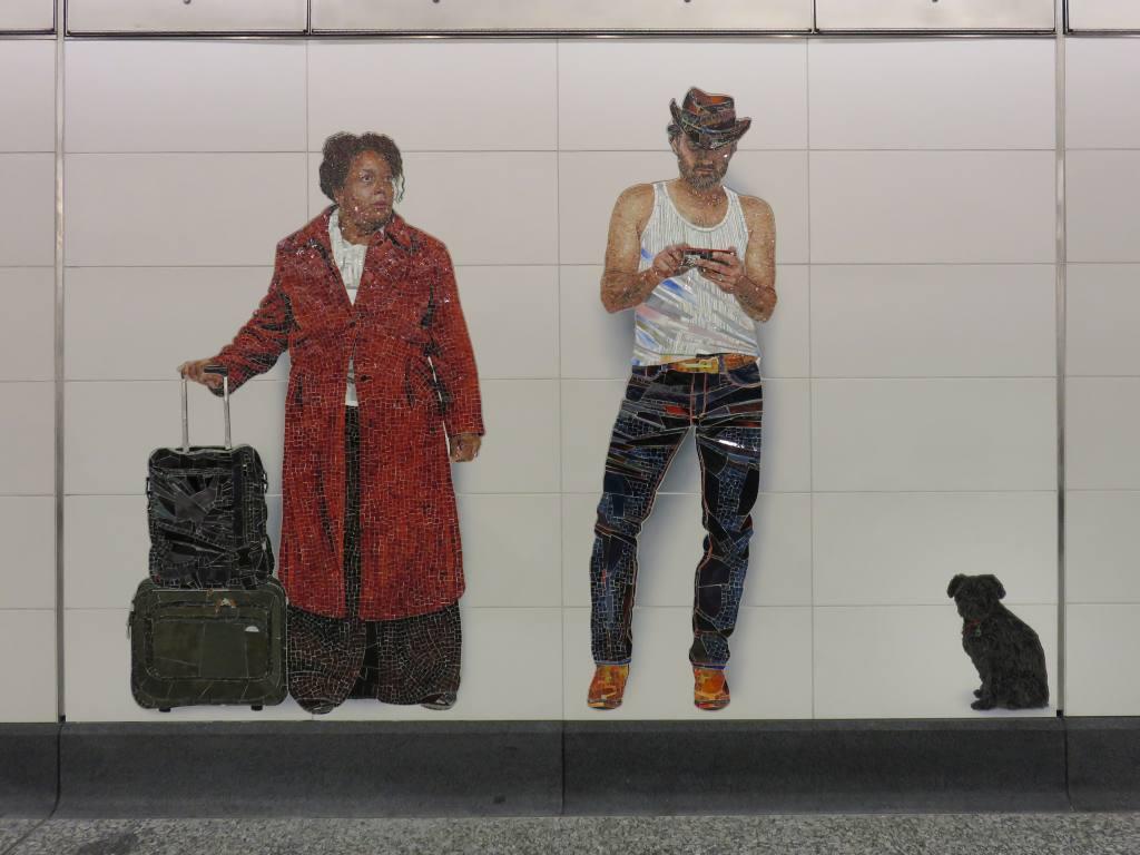 (89k, 1024x768)<br><b>Country:</b> United States<br><b>City:</b> New York<br><b>System:</b> New York City Transit<br><b>Line:</b> 2nd Avenue Subway<br><b>Location:</b> 72nd Street<br><b>Photo by:</b> Robbie Rosenfeld<br><b>Date:</b> 1/11/2017<br><b>Artwork:</b> <i>Perfect Strangers</i>, Vik Muniz, 2016<br><b>Viewed (this week/total):</b> 2 / 1089