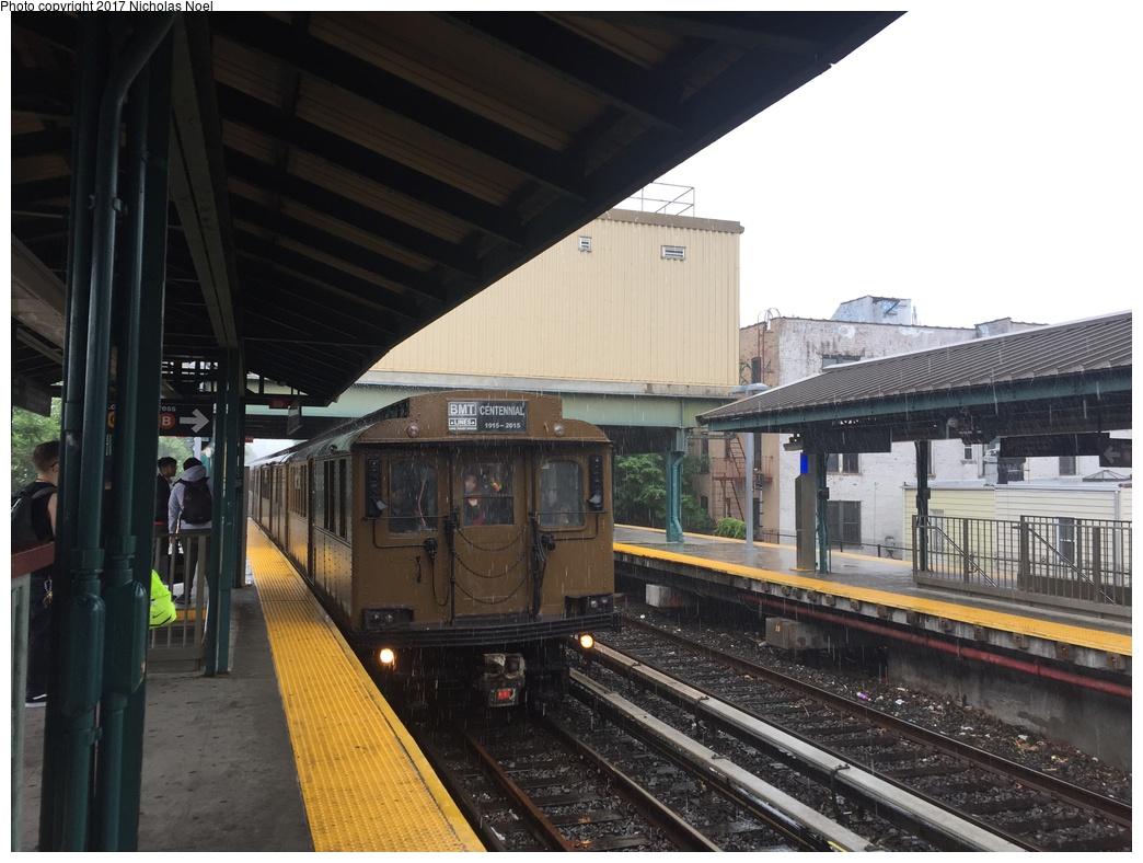 (283k, 1044x788)<br><b>Country:</b> United States<br><b>City:</b> New York<br><b>System:</b> New York City Transit<br><b>Line:</b> BMT Brighton Line<br><b>Location:</b> Kings Highway<br><b>Route:</b> Museum Train Service<br><b>Car:</b> BMT D-Type Triplex 6112 <br><b>Photo by:</b> Nicholas Noel<br><b>Date:</b> 6/17/2017<br><b>Viewed (this week/total):</b> 0 / 1101