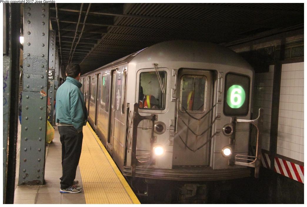 (284k, 1044x703)<br><b>Country:</b> United States<br><b>City:</b> New York<br><b>System:</b> New York City Transit<br><b>Line:</b> IRT East Side Line<br><b>Location:</b> 125th Street<br><b>Route:</b> 6<br><b>Car:</b> R-62A (Bombardier, 1984-1987) 1795 <br><b>Photo by:</b> Jose Garrido<br><b>Date:</b> 10/28/2016<br><b>Viewed (this week/total):</b> 7 / 1155
