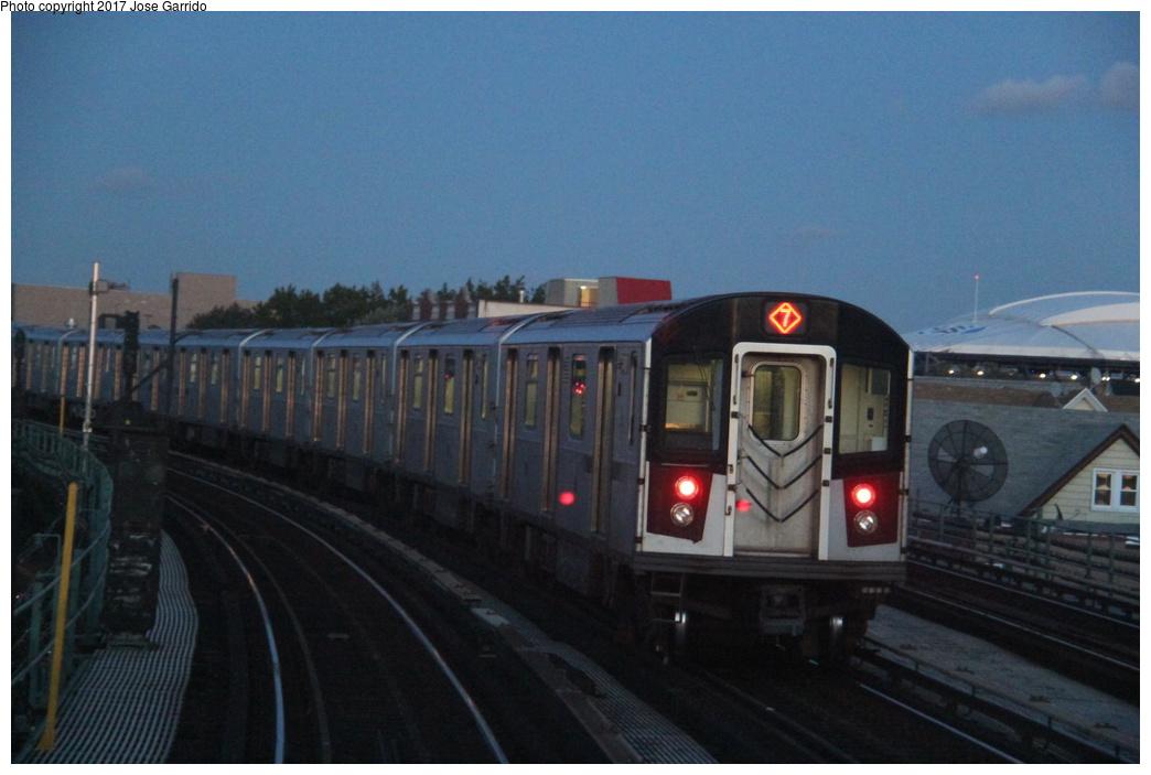 (246k, 1044x703)<br><b>Country:</b> United States<br><b>City:</b> New York<br><b>System:</b> New York City Transit<br><b>Line:</b> IRT Flushing Line<br><b>Location:</b> 103rd Street/Corona Plaza<br><b>Route:</b> 7<br><b>Car:</b> R-188 (Kawasaki, 2012-)  <br><b>Photo by:</b> Jose Garrido<br><b>Date:</b> 10/28/2016<br><b>Viewed (this week/total):</b> 1 / 845