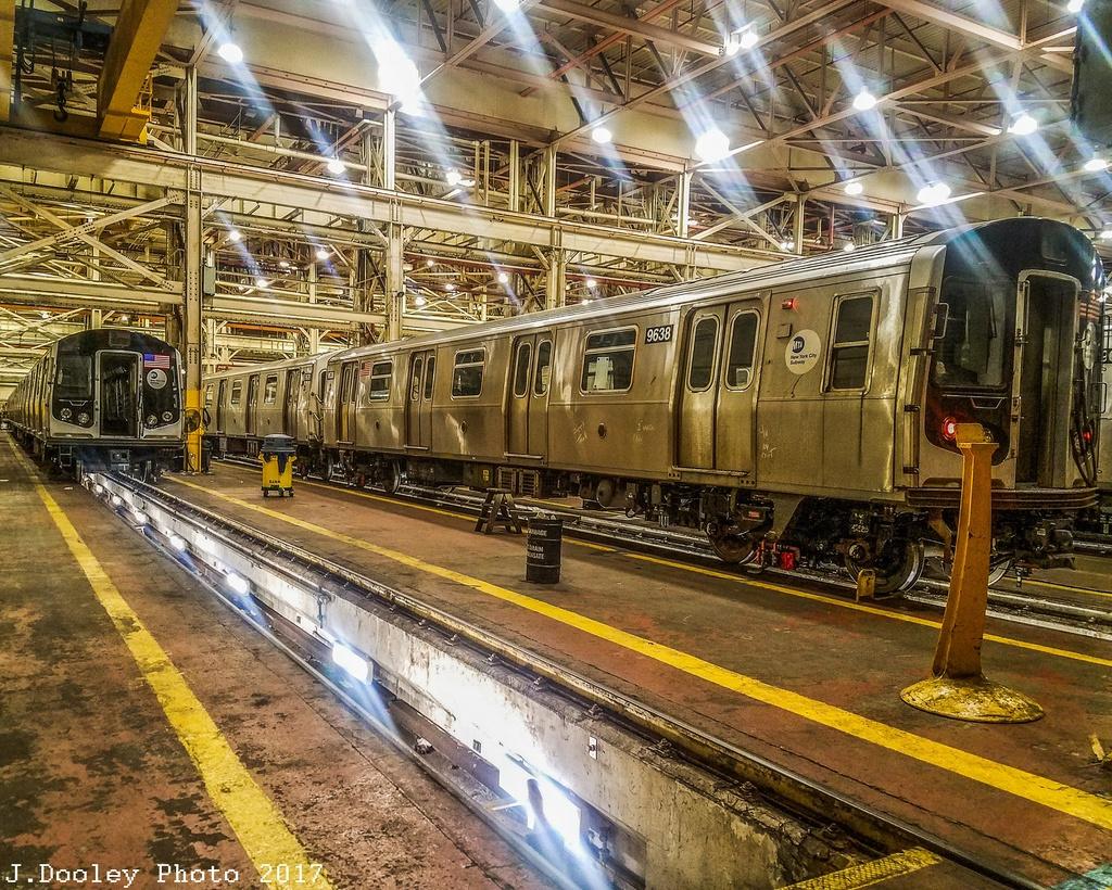 (506k, 1024x820)<br><b>Country:</b> United States<br><b>City:</b> New York<br><b>System:</b> New York City Transit<br><b>Location:</b> Coney Island Shop/Overhaul & Repair Shop<br><b>Car:</b> R-160A (Option 2) (Alstom, 2009, 5-car sets) 9638 <br><b>Photo by:</b> John Dooley<br><b>Date:</b> 5/7/2017<br><b>Viewed (this week/total):</b> 1 / 697