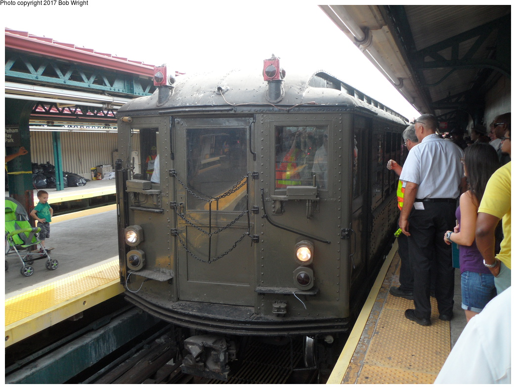 (319k, 1044x788)<br><b>Country:</b> United States<br><b>City:</b> New York<br><b>System:</b> New York City Transit<br><b>Line:</b> IRT Pelham Line<br><b>Location:</b> Pelham Bay Park<br><b>Route:</b> Museum Train Service<br><b>Car:</b> Low-V (Museum Train)  <br><b>Photo by:</b> Bob Wright<br><b>Date:</b> 8/9/2015<br><b>Viewed (this week/total):</b> 0 / 698