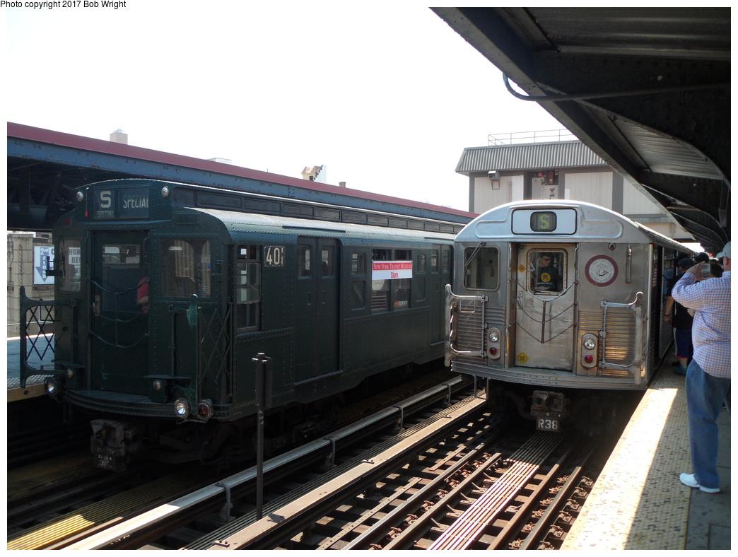 (313k, 1044x788)<br><b>Country:</b> United States<br><b>City:</b> New York<br><b>System:</b> New York City Transit<br><b>Line:</b> BMT Brighton Line<br><b>Location:</b> Brighton Beach<br><b>Route:</b> Museum Train Service<br><b>Car:</b> R-4 (American Car & Foundry, 1932-1933) 401 <br><b>Photo by:</b> Bob Wright<br><b>Date:</b> 6/25/2016<br><b>Viewed (this week/total):</b> 3 / 650
