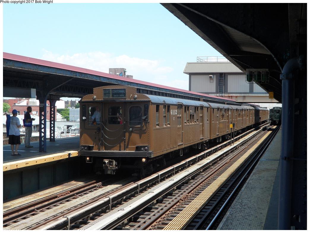 (365k, 1044x788)<br><b>Country:</b> United States<br><b>City:</b> New York<br><b>System:</b> New York City Transit<br><b>Line:</b> BMT Brighton Line<br><b>Location:</b> Brighton Beach<br><b>Route:</b> Museum Train Service<br><b>Car:</b> BMT D-Type Triplex 6112 <br><b>Photo by:</b> Bob Wright<br><b>Date:</b> 6/25/2016<br><b>Viewed (this week/total):</b> 2 / 713