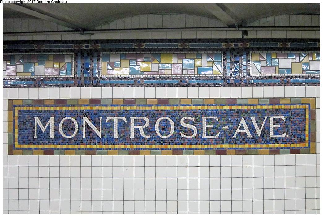 (398k, 1044x702)<br><b>Country:</b> United States<br><b>City:</b> New York<br><b>System:</b> New York City Transit<br><b>Line:</b> BMT Canarsie Line<br><b>Location:</b> Montrose Avenue<br><b>Photo by:</b> Bernard Chatreau<br><b>Date:</b> 4/11/2011<br><b>Viewed (this week/total):</b> 2 / 793