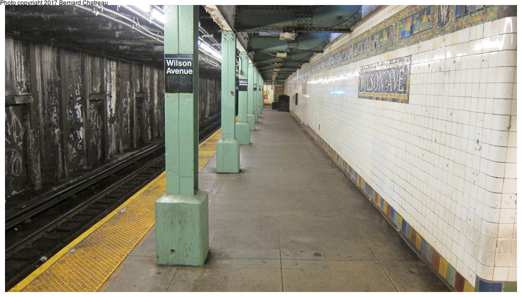 (274k, 1044x595)<br><b>Country:</b> United States<br><b>City:</b> New York<br><b>System:</b> New York City Transit<br><b>Line:</b> BMT Canarsie Line<br><b>Location:</b> Wilson Avenue<br><b>Photo by:</b> Bernard Chatreau<br><b>Date:</b> 9/25/2011<br><b>Viewed (this week/total):</b> 2 / 919