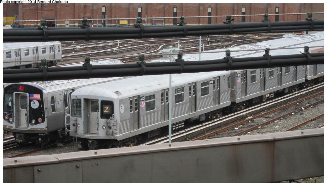 (252k, 1044x594)<br><b>Country:</b> United States<br><b>City:</b> New York<br><b>System:</b> New York City Transit<br><b>Location:</b> East New York Yard/Shops<br><b>Car:</b> R-42 (St. Louis, 1969-1970) 4813 <br><b>Photo by:</b> Bernard Chatreau<br><b>Date:</b> 9/25/2011<br><b>Viewed (this week/total):</b> 0 / 704