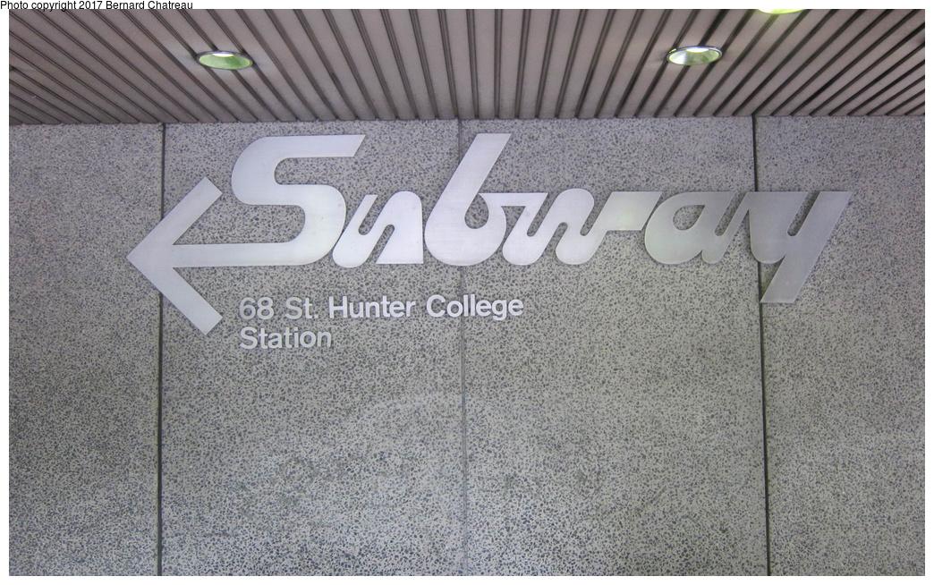 (367k, 1044x654)<br><b>Country:</b> United States<br><b>City:</b> New York<br><b>System:</b> New York City Transit<br><b>Line:</b> IRT East Side Line<br><b>Location:</b> 68th Street<br><b>Photo by:</b> Bernard Chatreau<br><b>Date:</b> 9/24/2011<br><b>Viewed (this week/total):</b> 2 / 737