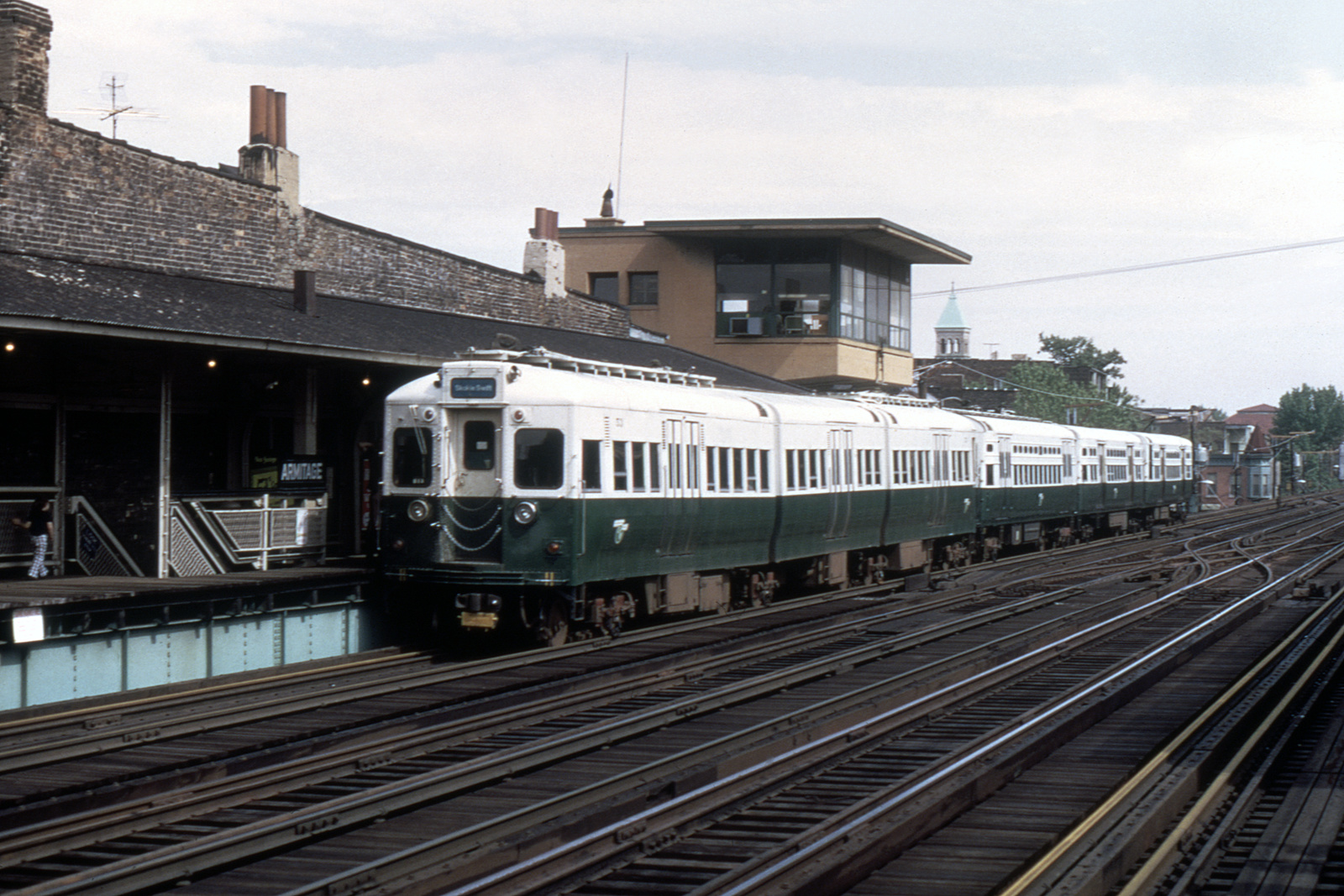 (717k, 1600x1067)<br><b>Country:</b> United States<br><b>City:</b> Chicago, IL<br><b>System:</b> Chicago Transit Authority<br><b>Line:</b> CTA Brown/Purple<br><b>Location:</b> Armitage<br><b>Route:</b> Fan Trip<br><b>Car:</b> CTA 51-54 Series 53 <br><b>Collection of:</b> David Pirmann<br><b>Date:</b> 5/28/1973<br><b>Viewed (this week/total):</b> 0 / 782