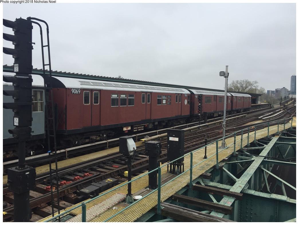 (283k, 1044x788)<br><b>Country:</b> United States<br><b>City:</b> New York<br><b>System:</b> New York City Transit<br><b>Line:</b> IRT Flushing Line<br><b>Location:</b> Willets Point/Mets (fmr. Shea Stadium)<br><b>Route:</b> Museum Train Service<br><b>Car:</b> R-33 Main Line (St. Louis, 1962-63) 9069 <br><b>Photo by:</b> Nicholas Noel<br><b>Date:</b> 4/21/2017<br><b>Viewed (this week/total):</b> 0 / 973